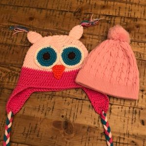 Two toddler hats